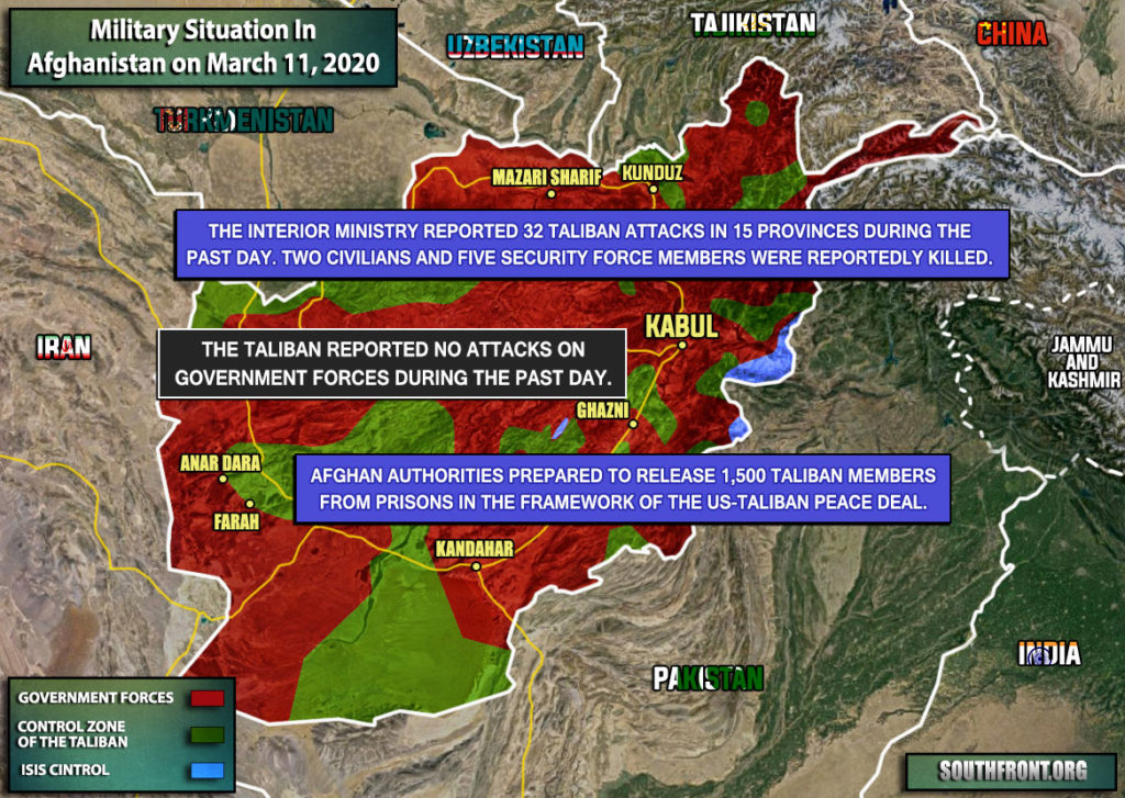 Military Situation In Afghanistan On March 11, 2020 (Map Update)