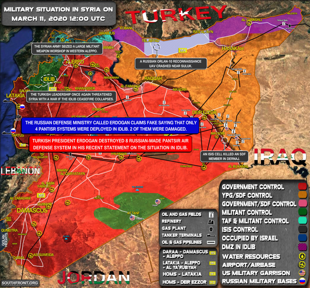 Military Situation In Syria On March 11, 2020 (Map Update)