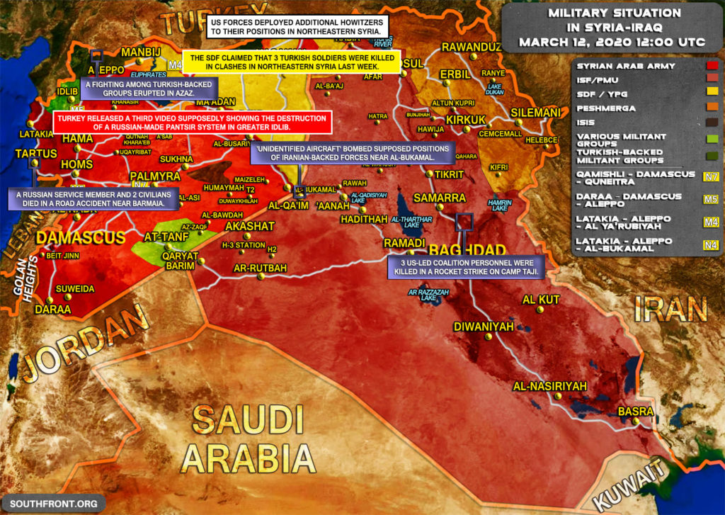 Military Situation In Syria And Iraq On March 12, 2020 (Map Update)