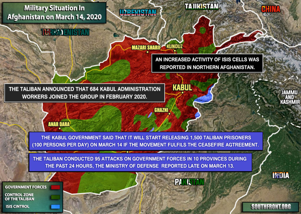 Military Situation In Afghanistan On March 14, 2020 (Map Update)