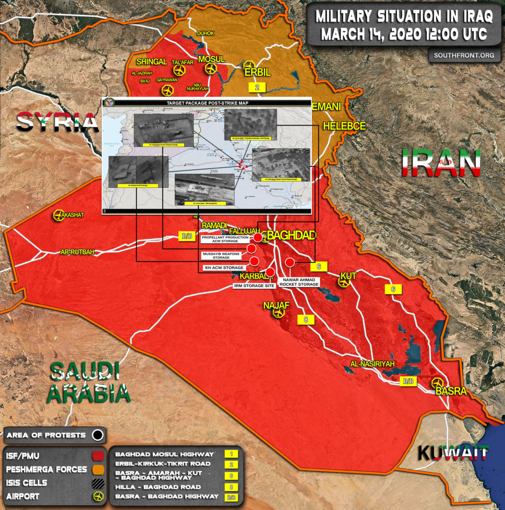 Map Update: Locations Of US Strikes On Alleged Iranian-linked Targets In Iraq