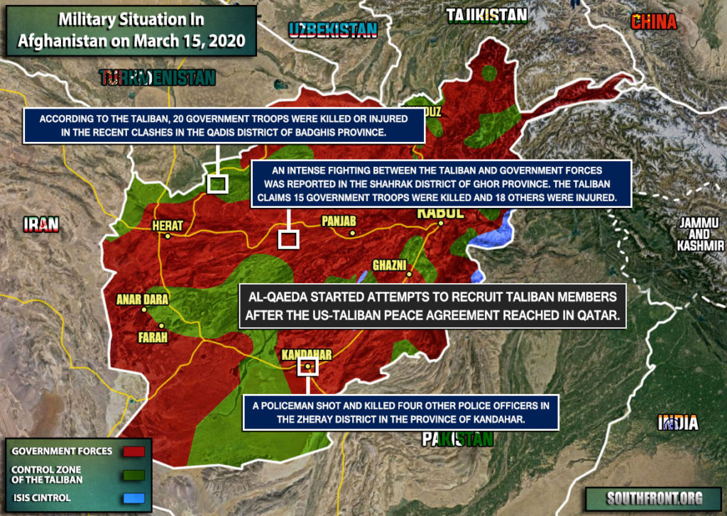 Military Situation In Afghanistan On March 15, 2020 (Map Update)