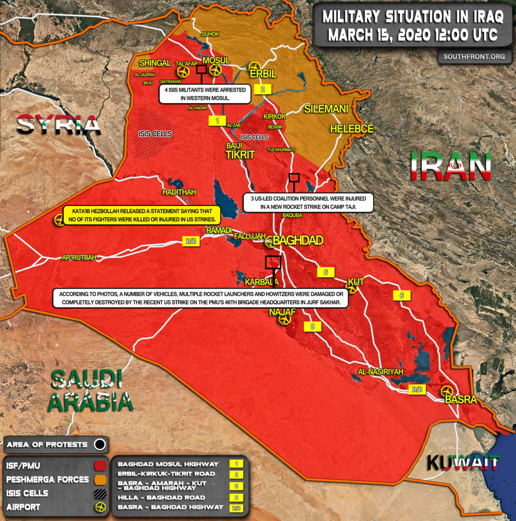 Military Situation In Iraq On March 15, 2020 (Map Update)