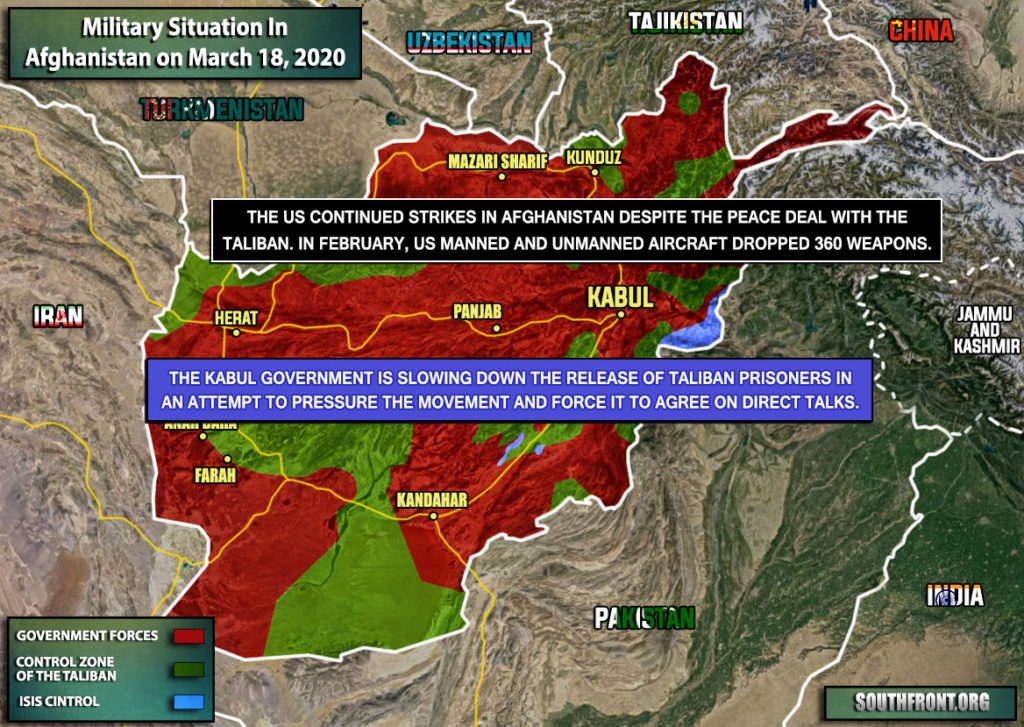 Military Situation In Afghanistan On March 18, 2020 (Map Update)