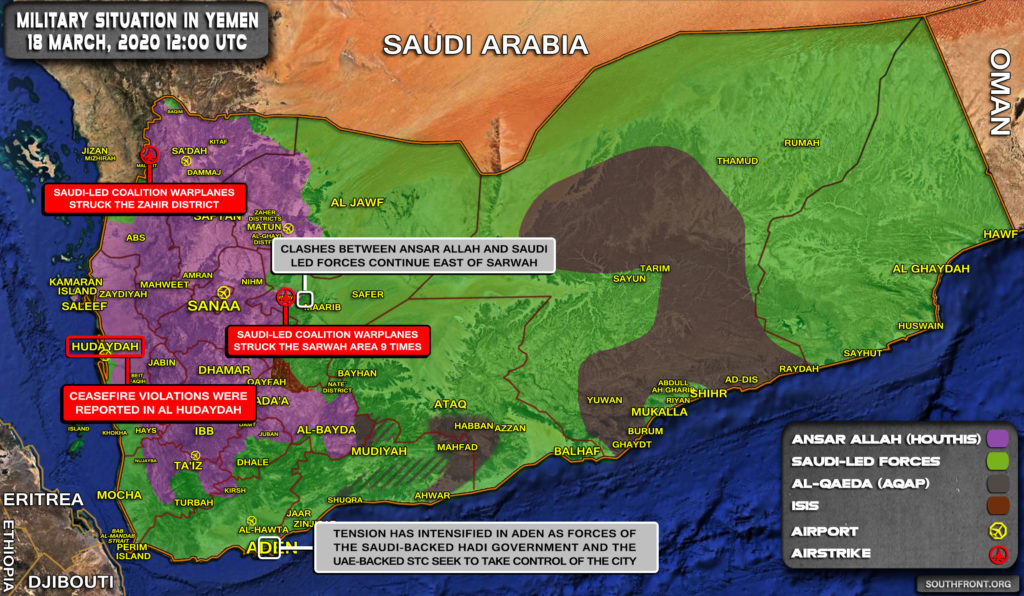Military Situation In Yemen On March 18, 2020 (Map Update)
