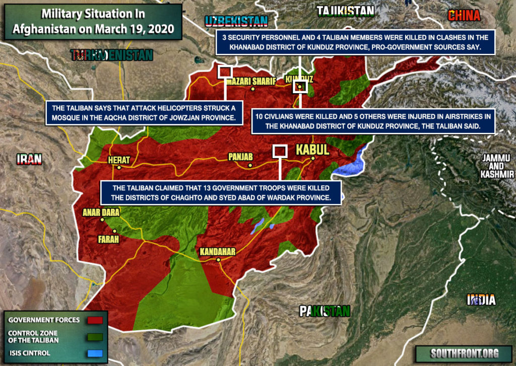 Military Situation In Afghanistan On March 19, 2020 (Map Update)