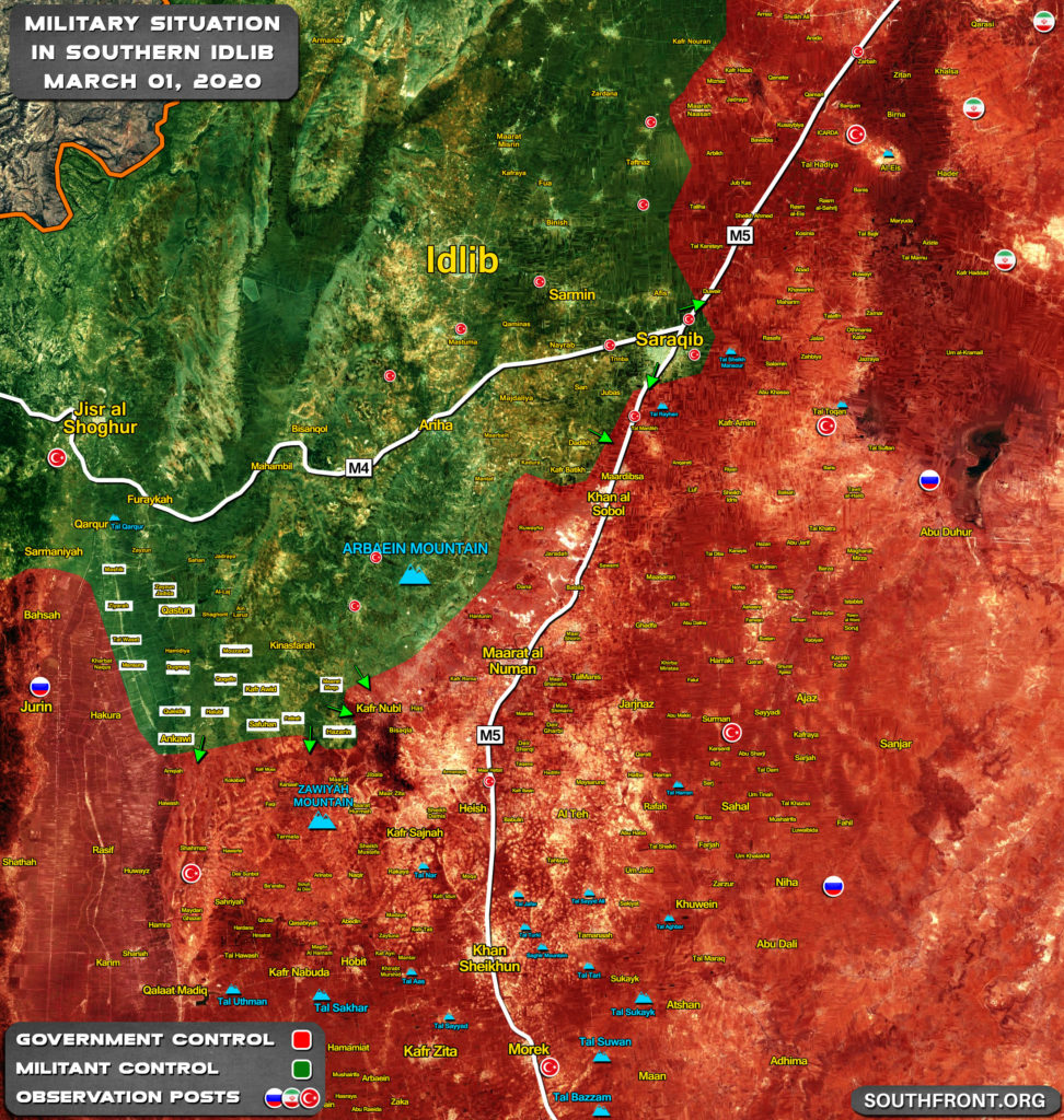 Map Update: Advances Of Turkish-led Forces In Southern Idlib