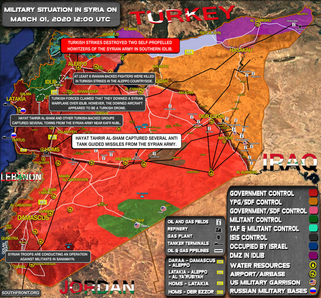 Military Situation In Syria On March 1, 2020 (Map Update)