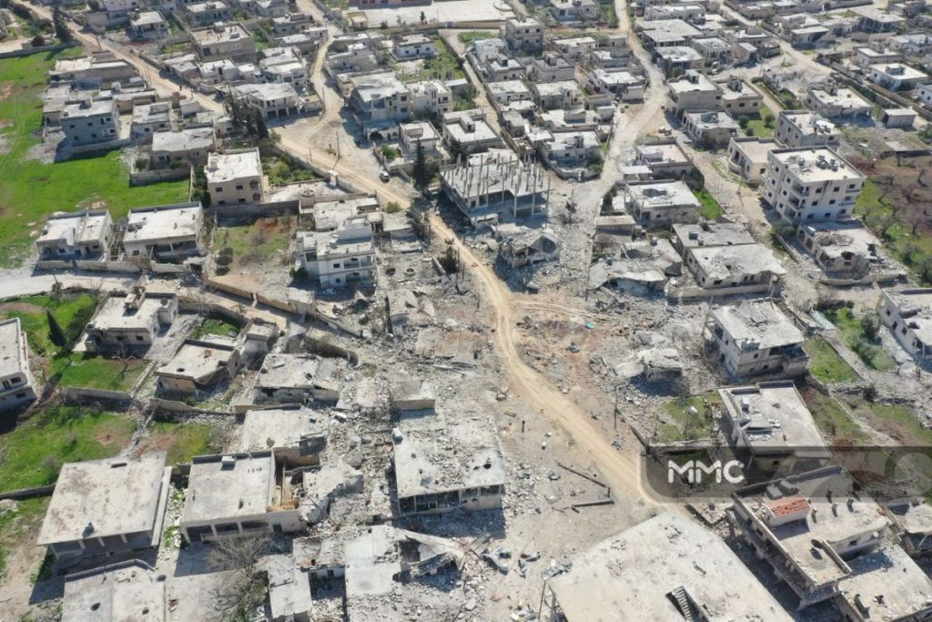 Drone Footage: Nayrab Town After Syrian-Turkish Battle For Eastern Idlib