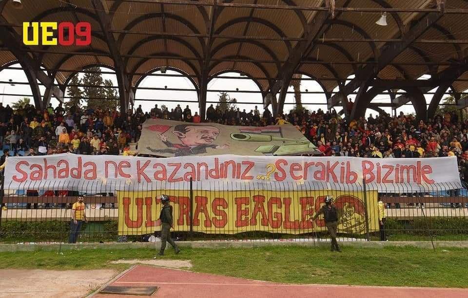 In Photos: Syrian Footbal Fans Say 'Hello' To Turkish President Erdogan