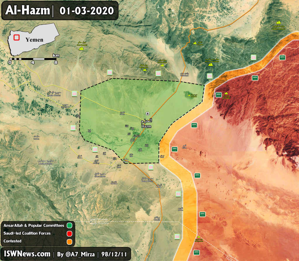 Ansar Allah Captured Al-Hazm Town In Yemen's al-Jawf Province (Map Update)