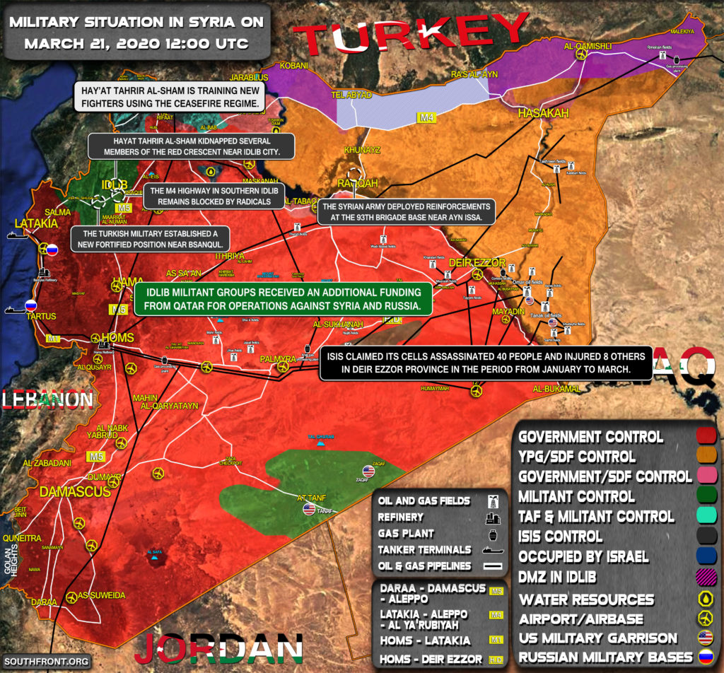 Military Situation In Syria On March 21, 2020 (Map Update)