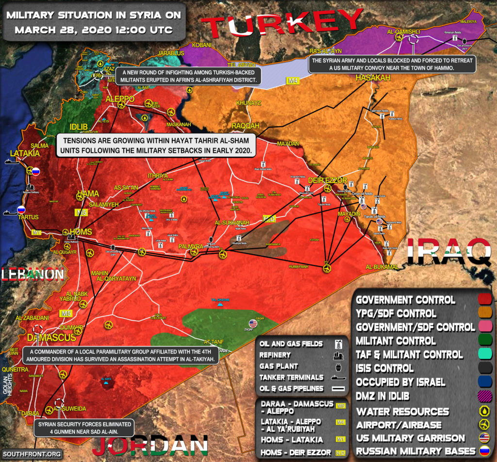 Military Situation In Syria On March 28, 2020 (Map Update)