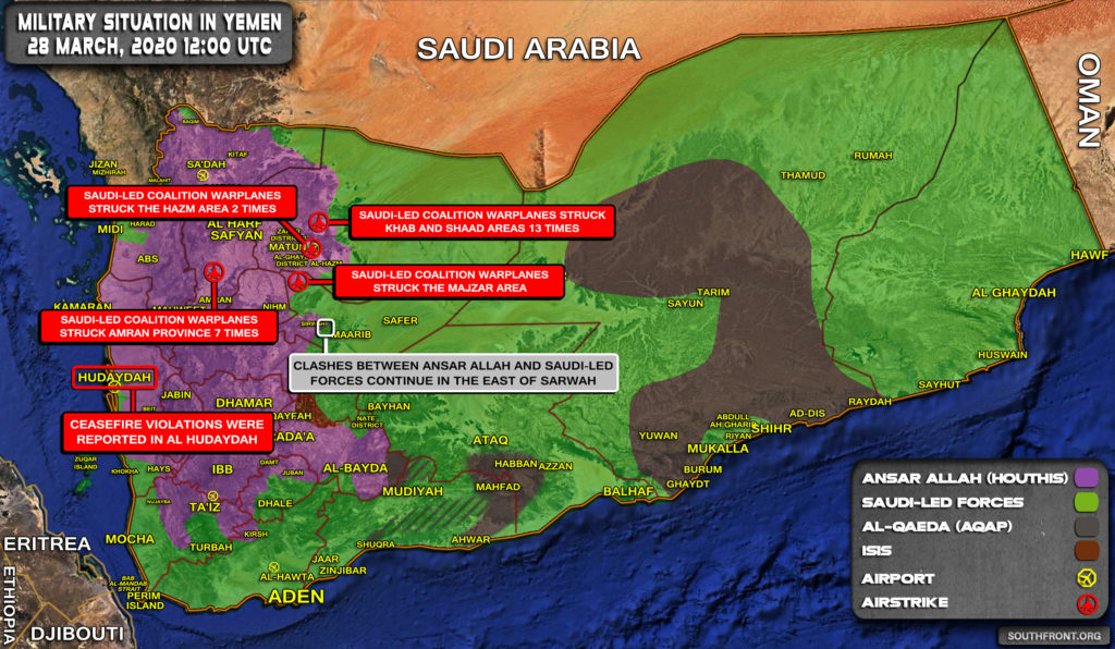 Military Situation In Yemen On March 28, 2020 (Map Update)