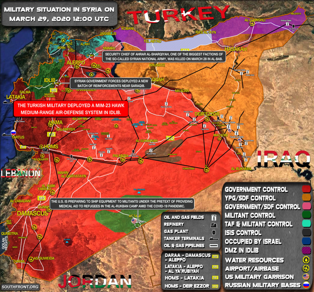 Military Situation In Syria On March 29, 2020 (Map Update)
