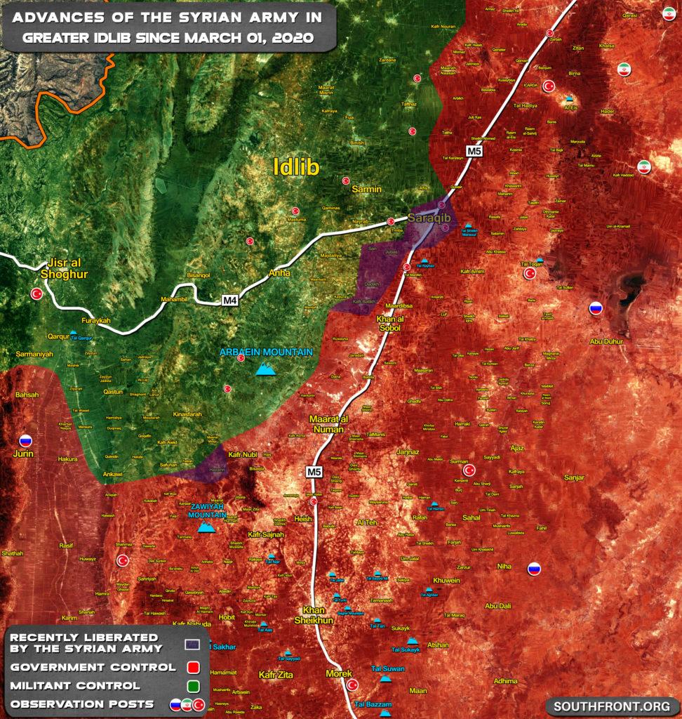 Russian Military Police Entered Saraqib In Eastern Idlib: Russian Military