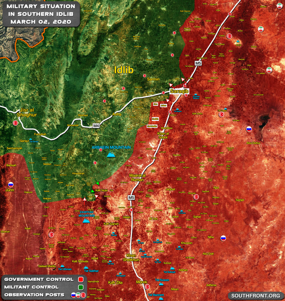 Military Situation In Southeastern Idlib Following Second Liberation Of Saraqib By Syrian Army (Map Update)