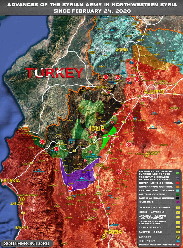 Zisky A Neúspechy Sýrskej Armády V Väčšiu Idlib: Február 24 - 5. Marec Roku 2020 (Aktualizácia Máp)