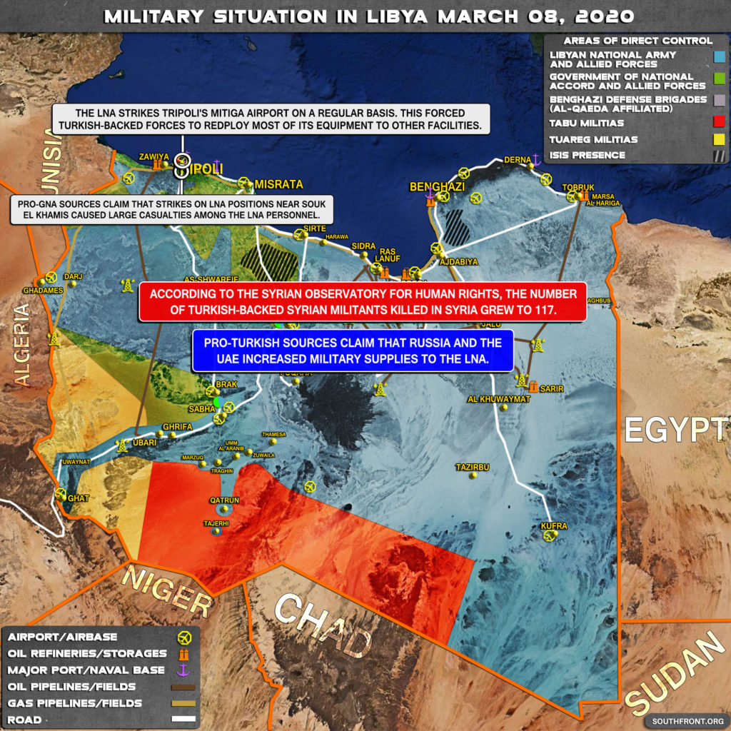 Military Situation In Libya On March 8, 2020 (Map Update)
