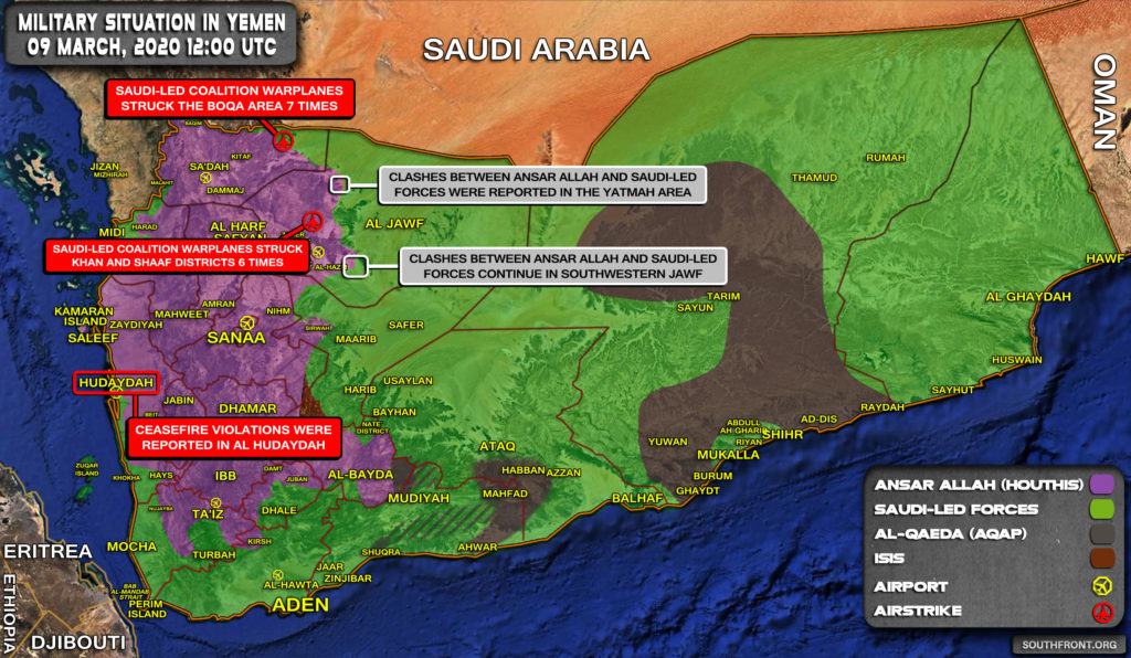 Military Situation In Yemen On March 9, 2020 (Map Update)