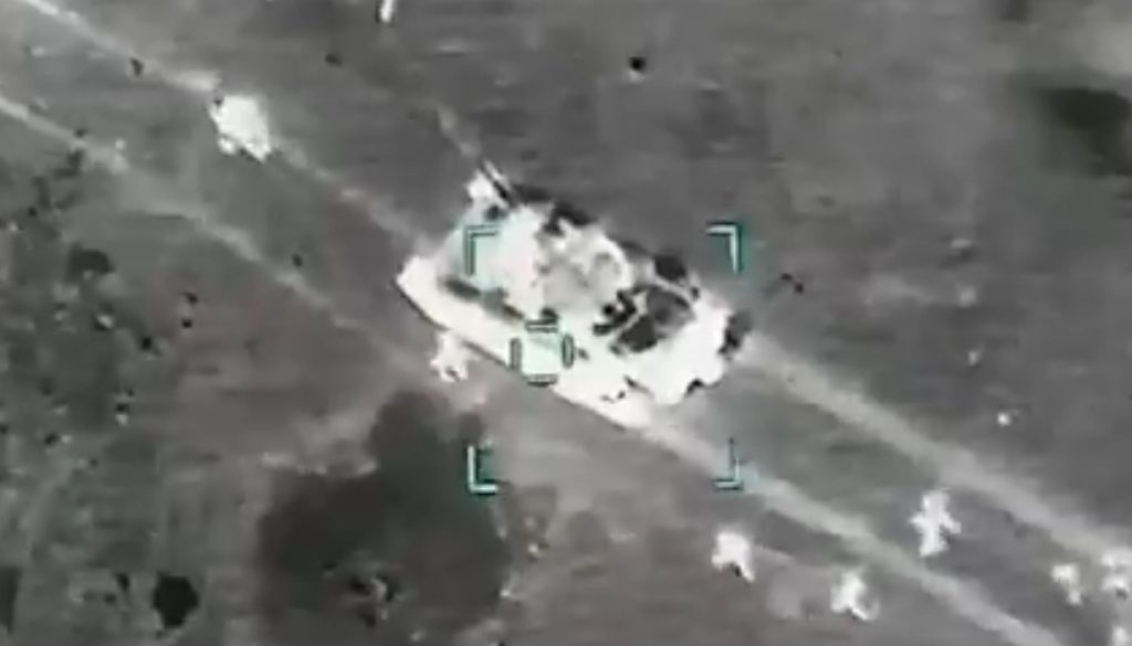 In Video: Turkish Combat Drones Pound Syrian Military Convoy In Greater Idlib