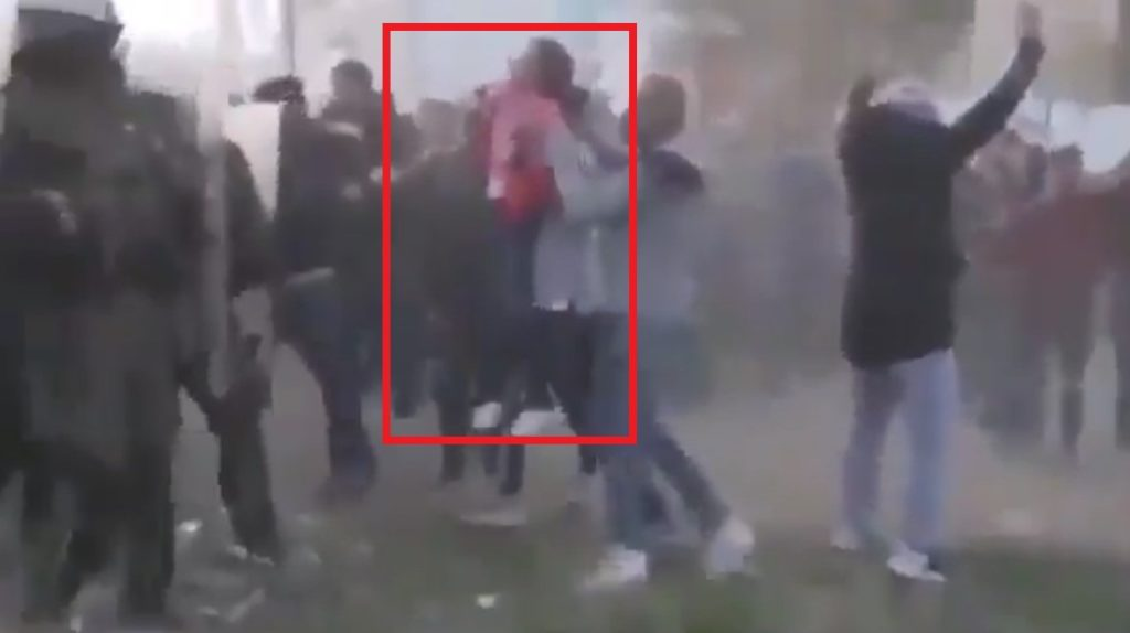 In Video: Turkish-sent Illegal Migrants Use Little Girl As Human Shield Against Greek Police