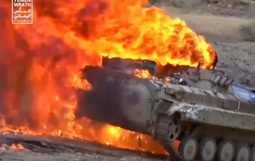 In Videos: Houthis Crushing Saudi-led Forces And Burning Their Military Equipment
