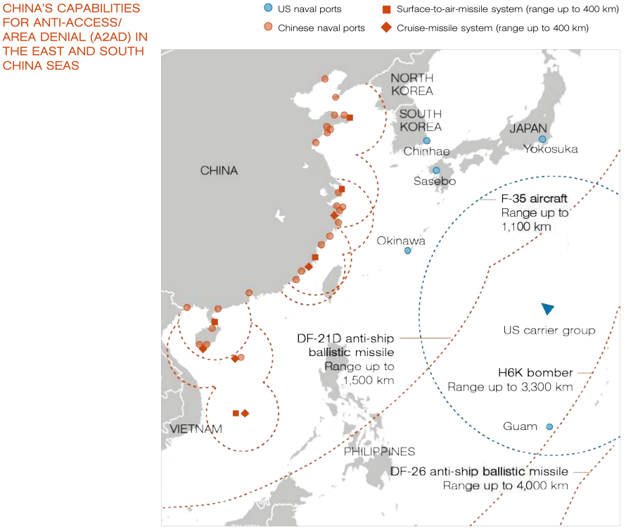 China's Anti-Access/Area Denial Capabilities In The East and South China Seas