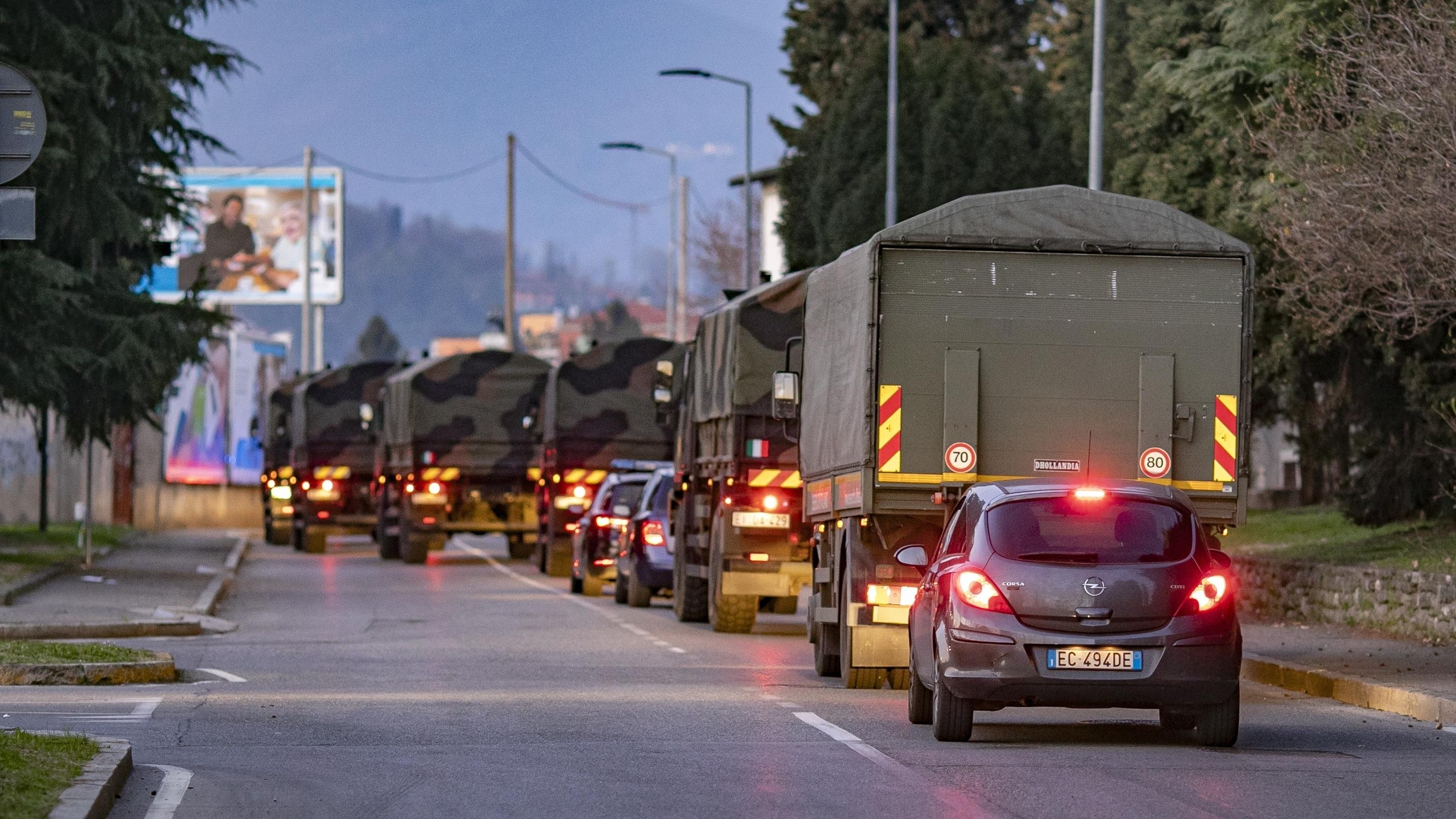 Chaos In Italy: Military Trucks Used To Take Coffins With People Dying Of Coronavirus