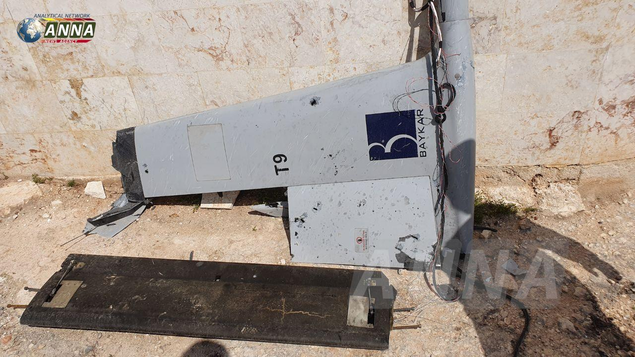 Wreckage Of Turkish Combat Drone Uncovered In Southeast Idlib (Photos)