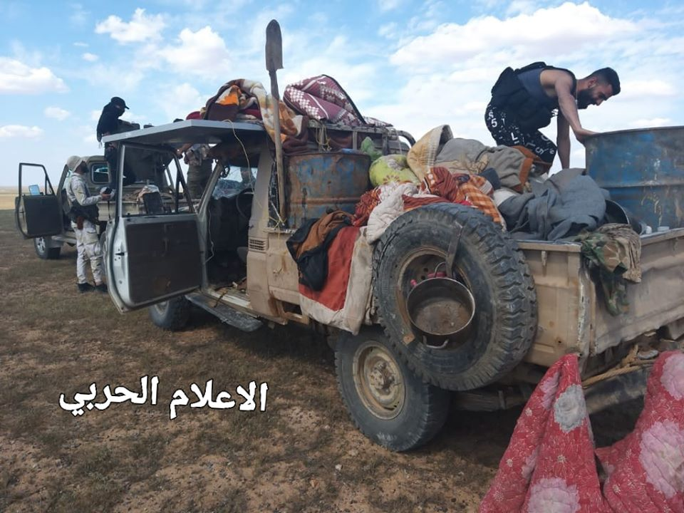 In Photo: Syrian Army Captured ISIS Vehicle In Deir Ezzor Desert