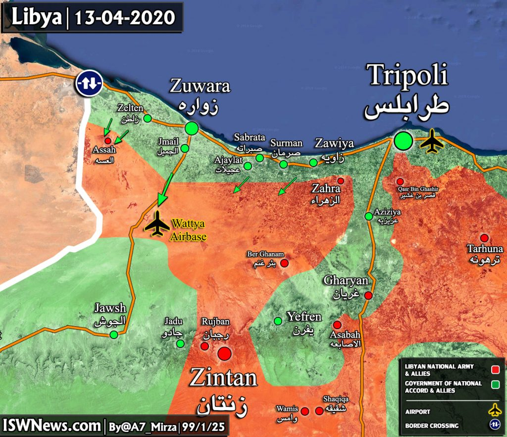 Map Update: Gains Of Turkish-backed Forces In Battle Against Libyan Army Near Tripoli