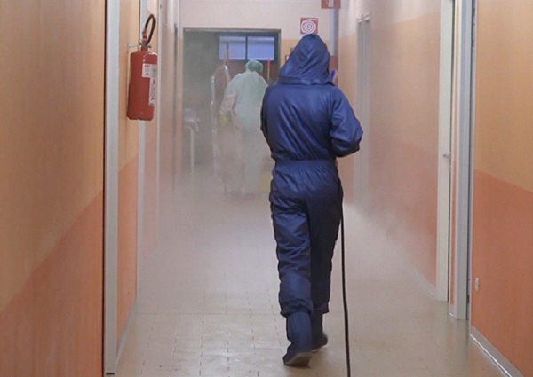 Russian Specialists Carried Out Disinfection In Two Large Boarding Houses In Bergamo