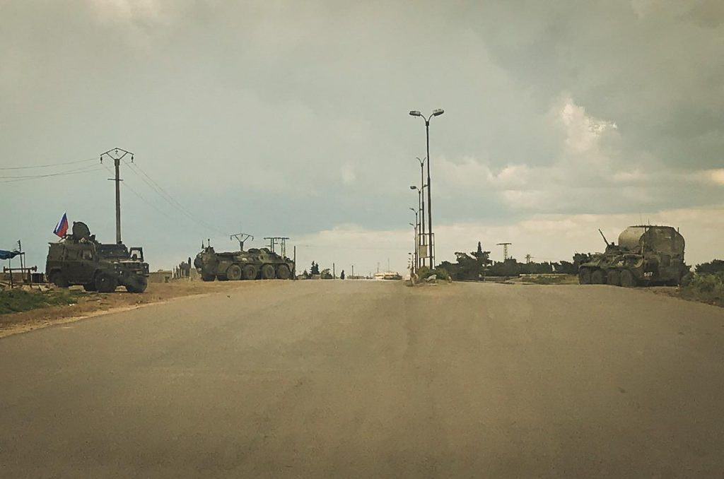 In Photo: Russian Military Police Increased Presence Around Qamishly City Amid Tensions Between SDF And Syrian Troops