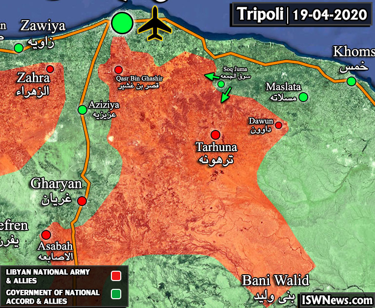 Map Update: Military Situation In Countryside Of Tarhuna In Northern Libya