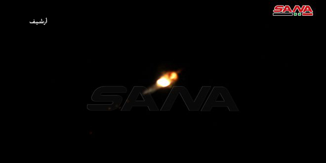 Israeli Air Force Bombs Targets In Syria's Homs Province. Syrian Air Defense Responds