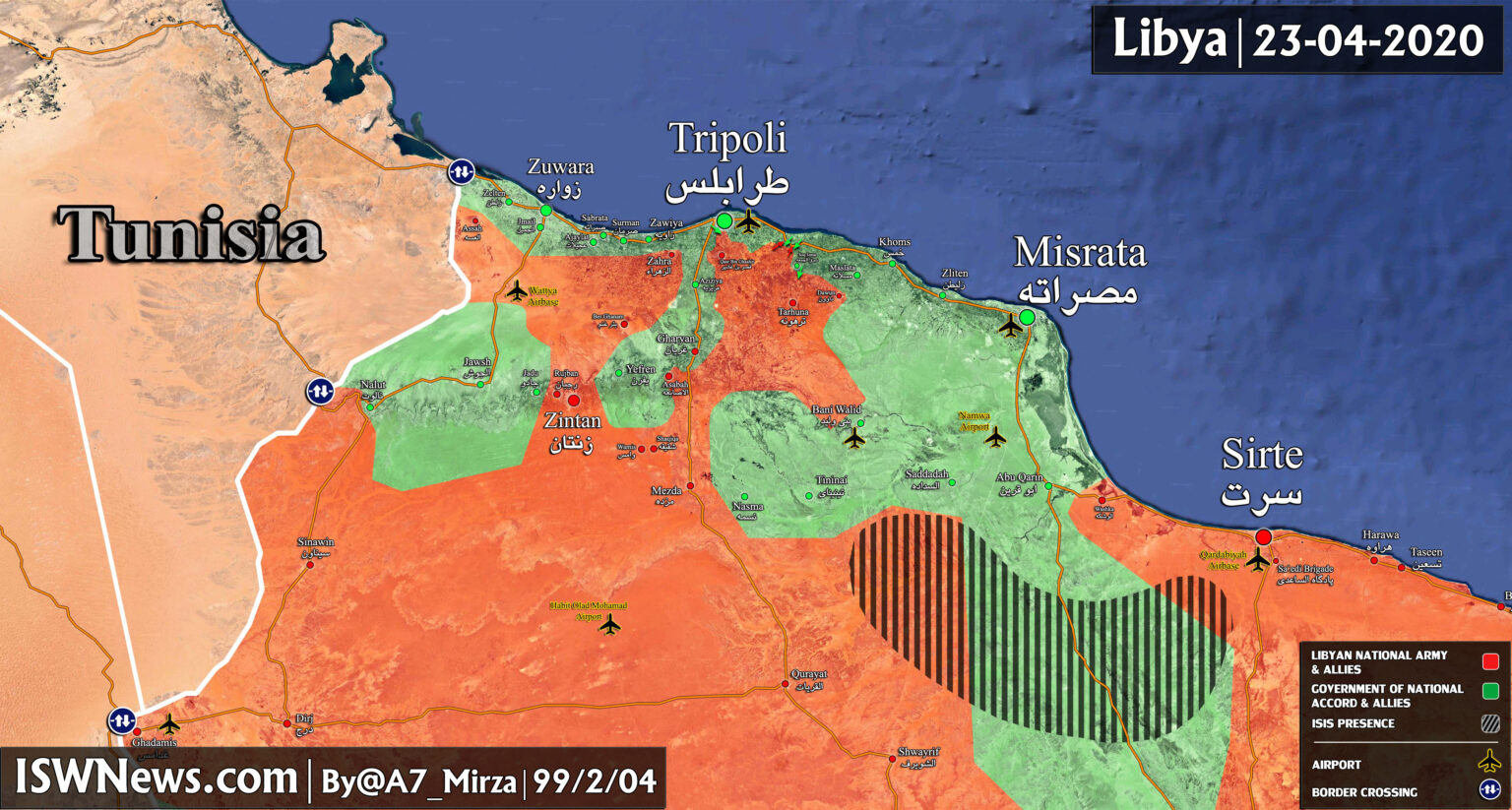Libya Map Update: Military Situation In Tripoli Countryside
