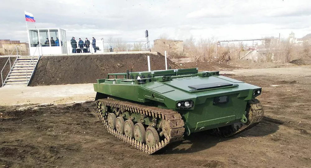 Russia's Marker Robotic Combat Platform To Complete Testing By End Of 2021