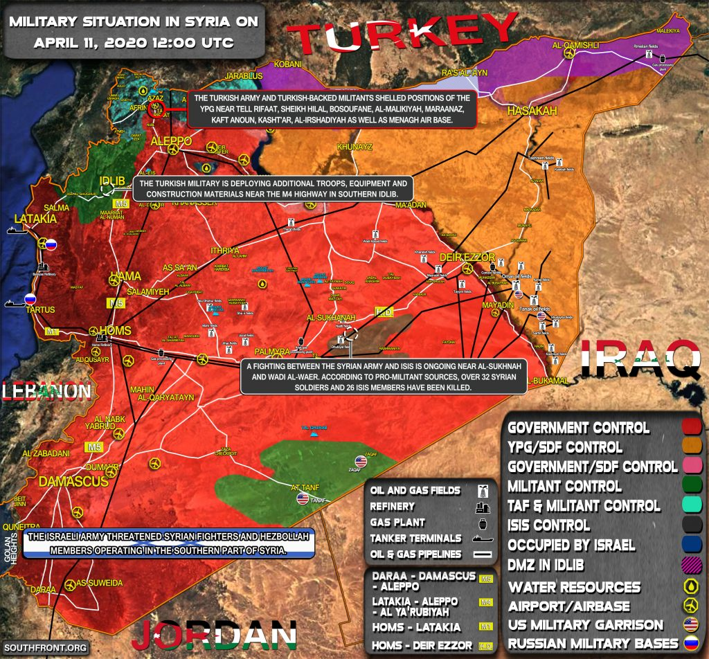 Military Situation In Syria On April 11, 2020 (Map Update)