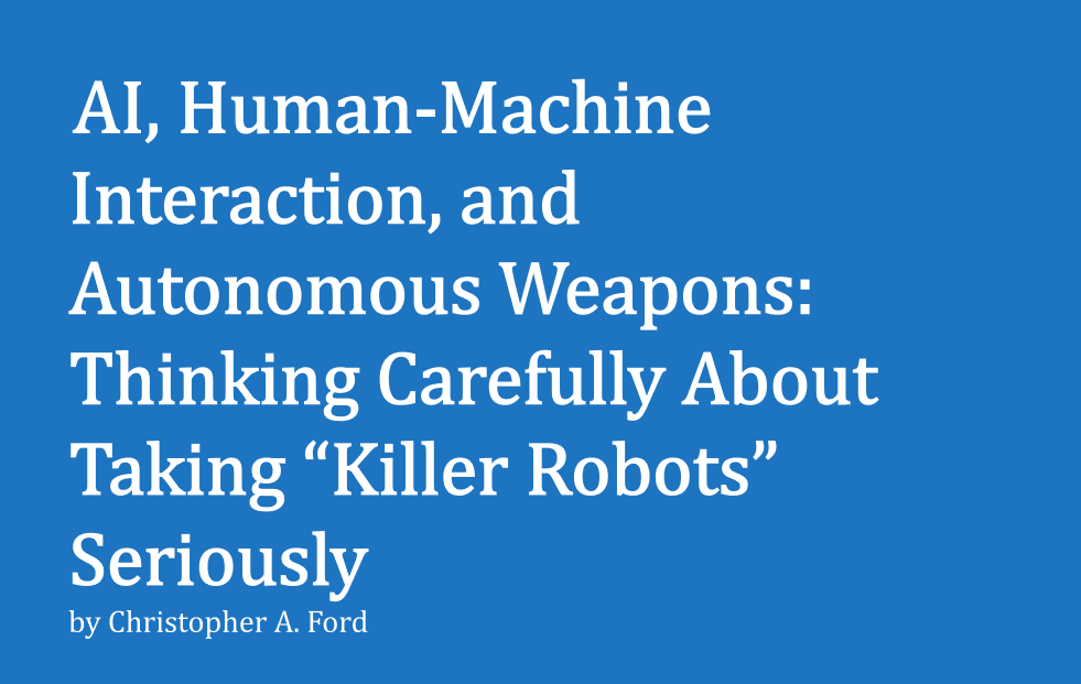 """No Agreements On """"Killer Robots"""" Needed As Russia And China Won't Keep Them: US Department Of State"""