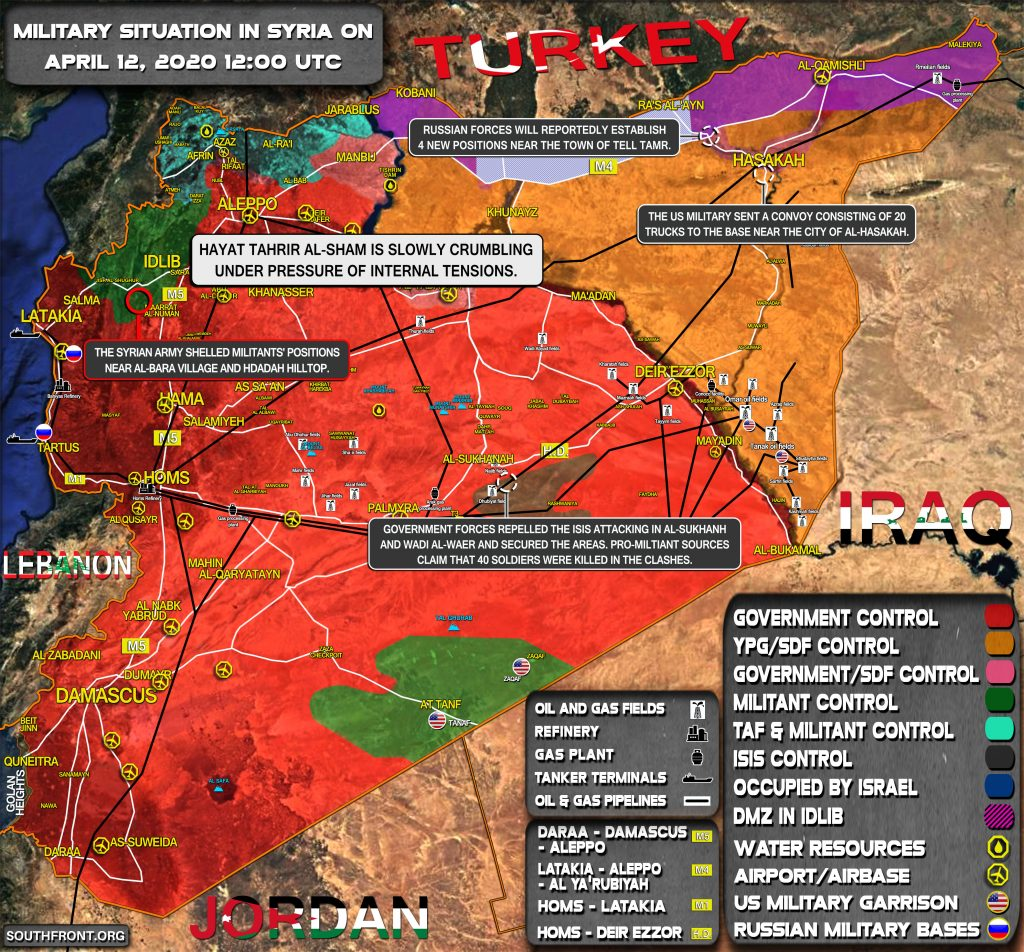 Military Situation In Syria On April 12, 2020 (Map Update)