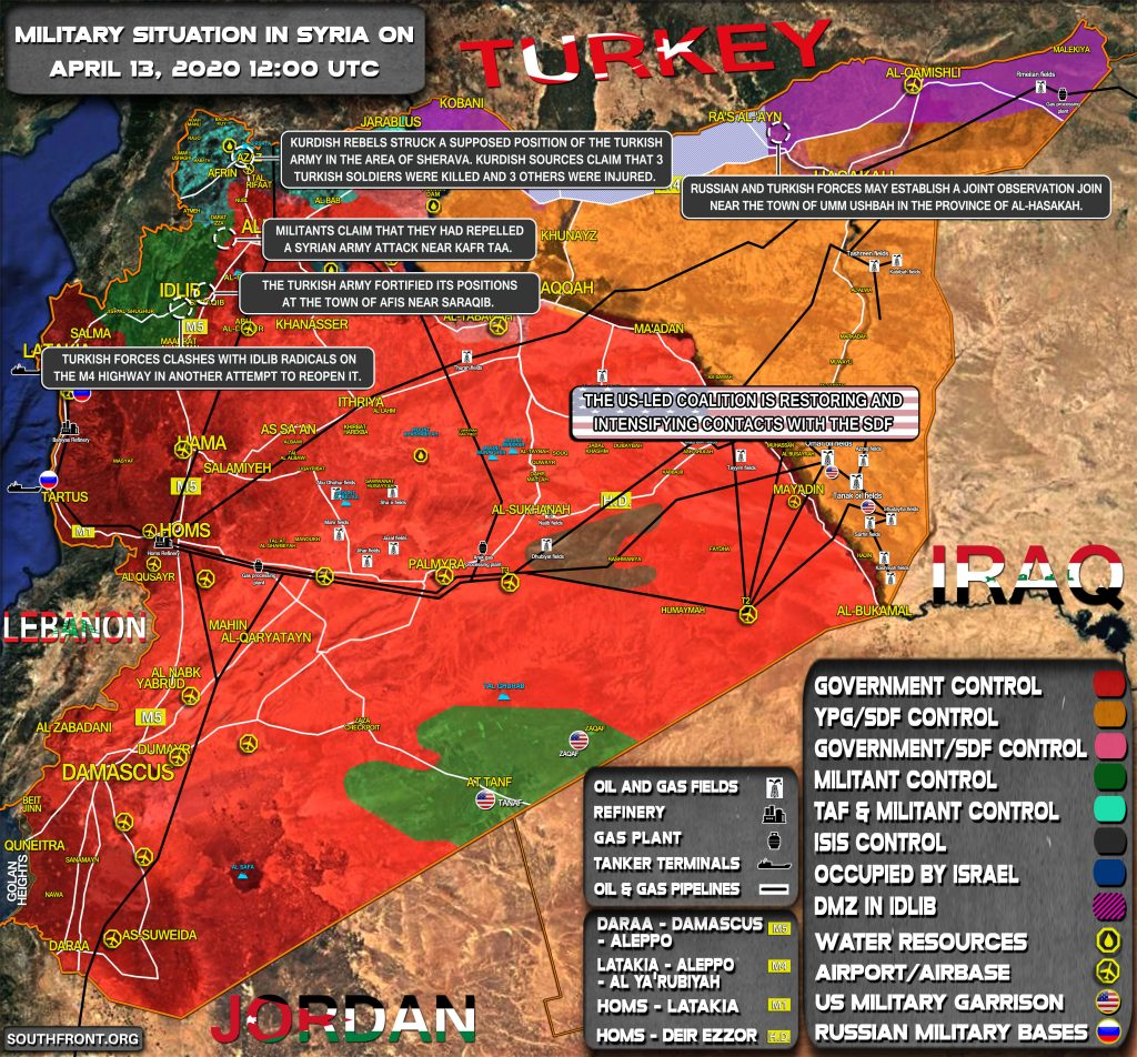 Military Situation In Syria On April 13, 2020 (Map Update)