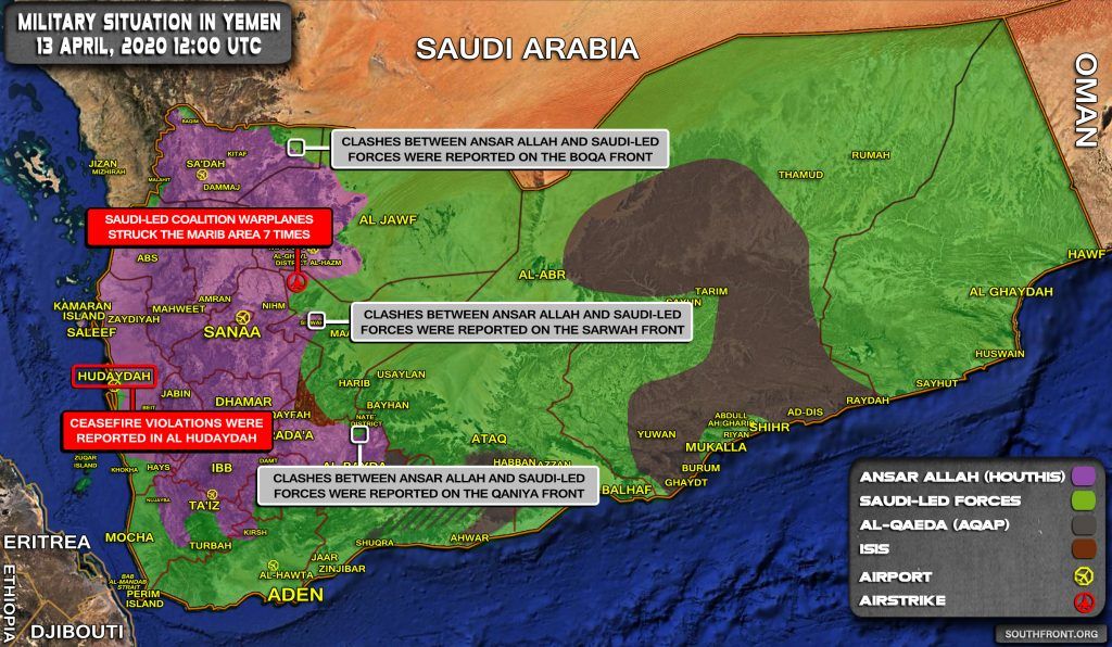 Military Situation In Yemen On April 13, 2020 (Map Update)
