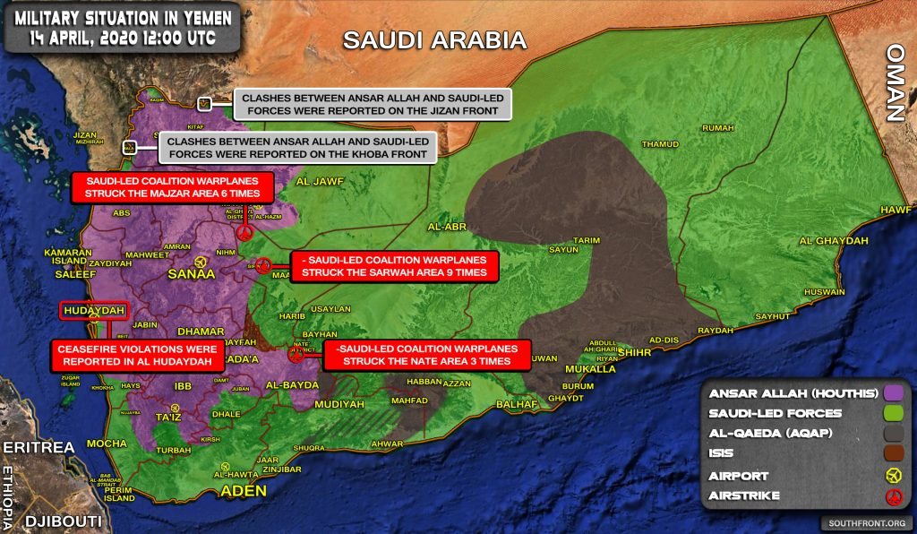 Military Situation In Yemen On April 14, 2020 (Map Update)
