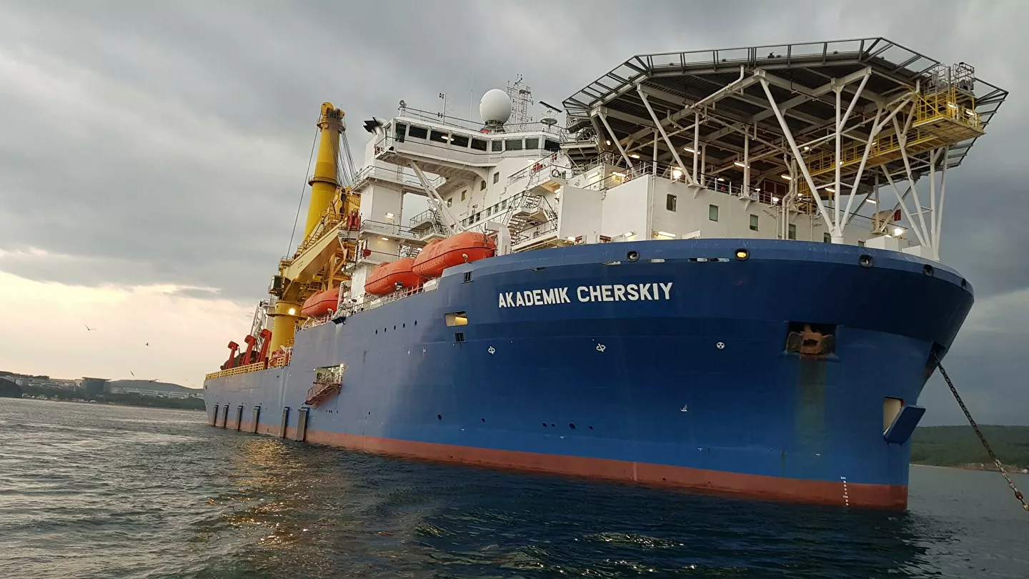 Russian Akademik Cherskiy Pipe Laying Vessel Appears En Route To Nord Stream 2