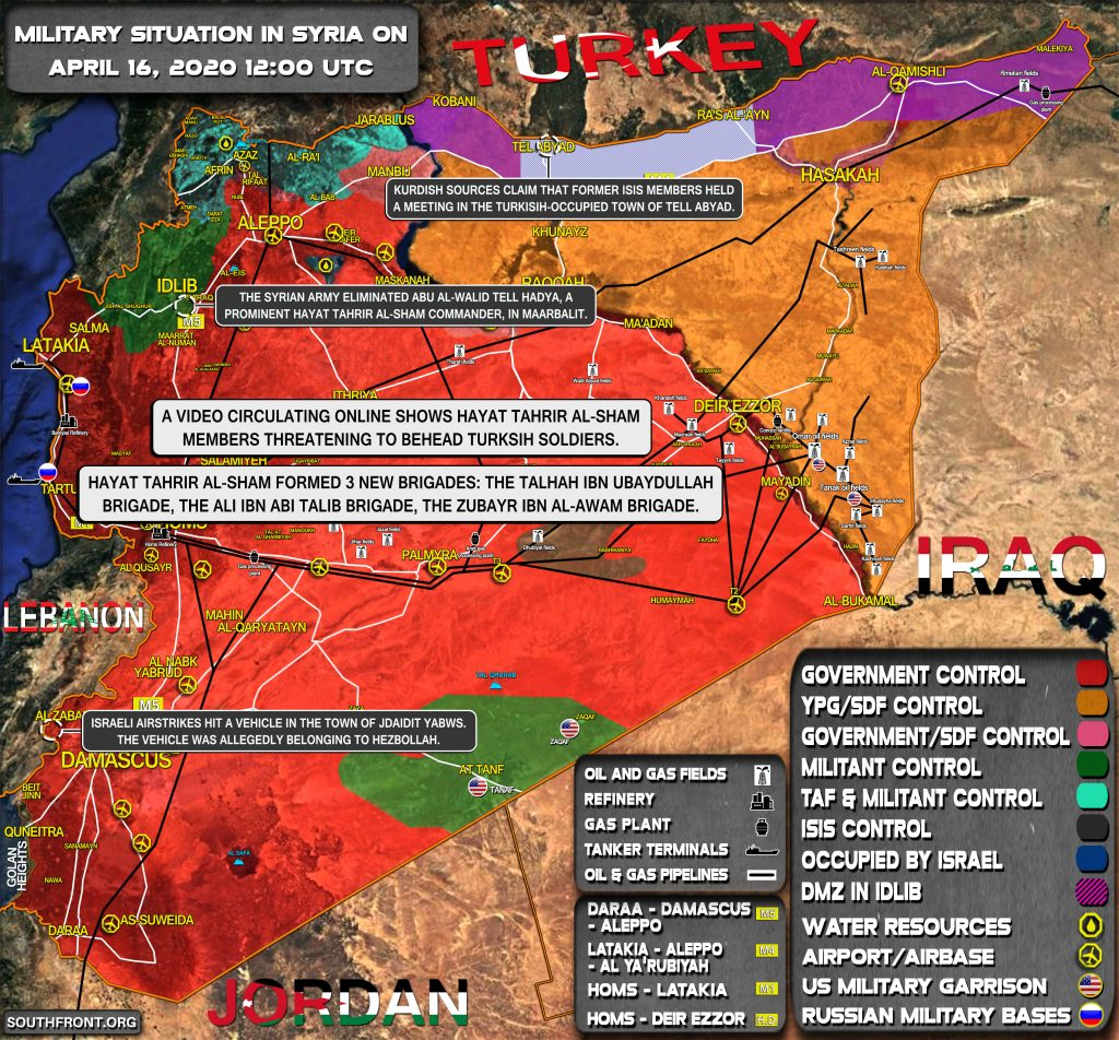 Military Situation In Syria On April 16, 2020 (Map Update)