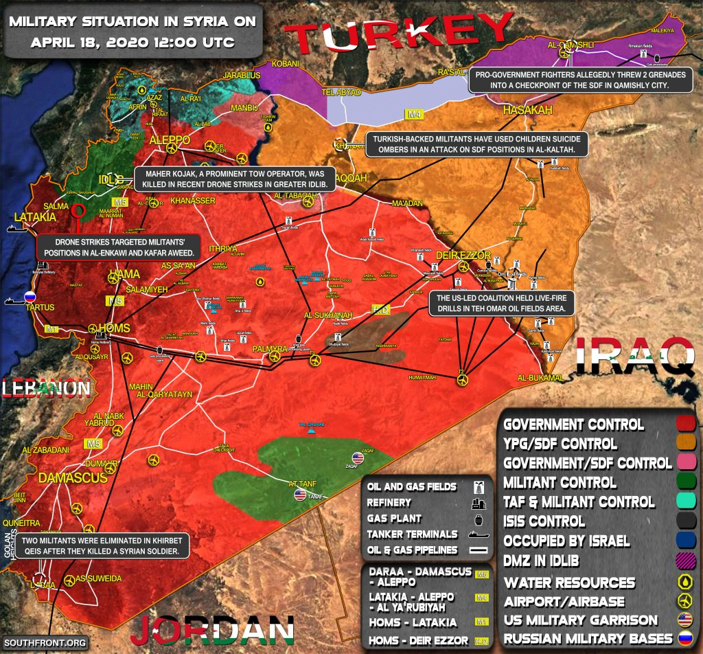 Military Situation In Syria On April 18, 2020 (Map Update)