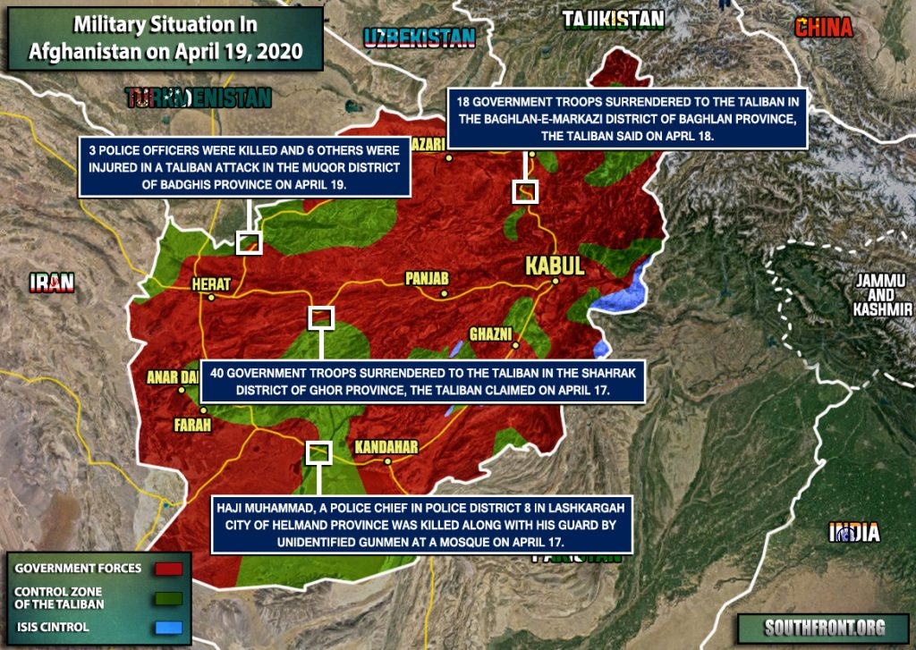 Military Situation In Afghanistan On April 19, 2020 (Map Update)
