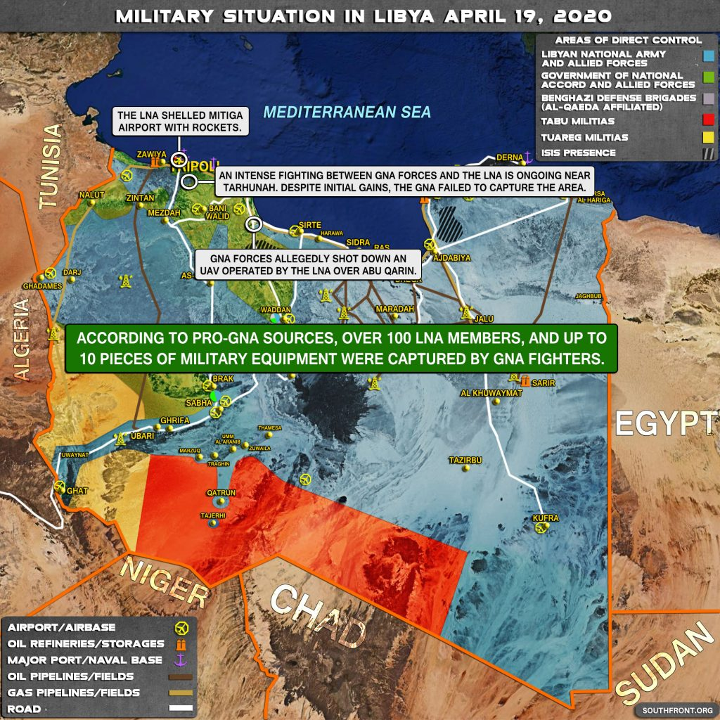 Military Situation In Libya On April 19, 2020 (Map Update)