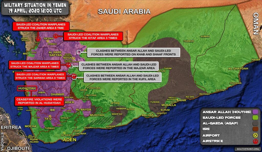 Military Situation In Yemen On April 19, 2020 (Map Update)